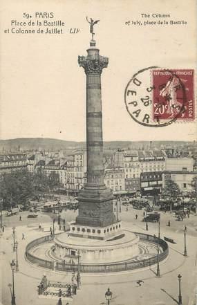 """/ CPA FRANCE 75011 """"Paris, place de la Bastille et colonne de Juillet"""""""