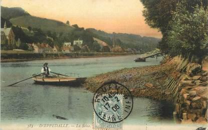 "/ CPA FRANCE 76 ""Dieppedalle, la Seine"""
