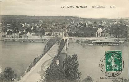 "/ CPA FRANCE 77 ""Saint Mammès, vue générale"""