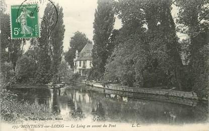 """/ CPA FRANCE 77 """"Montigny sur Loing, le loing en amont du pont"""""""