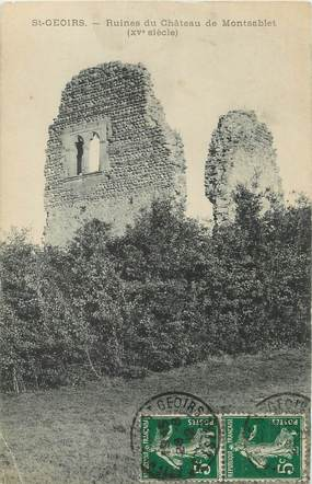 """/ CPA FRANCE 38 """"Saint Geoirs, ruines du château de Montsablet"""""""