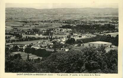 """/ CPSM FRANCE 38 """"Saint Simeon de Bressieux, vue générale"""""""
