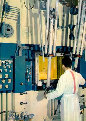 """CPSM FRANCE 91 """"Saclay, Laboratoire d'Examen des combustibles irradiés"""" / ATOME"""