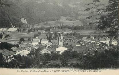 """/ CPA FRANCE 38 """"Saint Pierre d'Allevard, vue générale"""""""