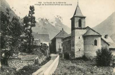 """/ CPA FRANCE 38 """"La route de Bérarde, village de Saint Christophe en Oisans"""""""