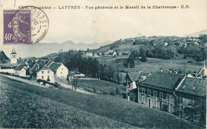 """/ CPA FRANCE 38 """"Laffrey, vue générale et le massif de la Chartreuse"""""""