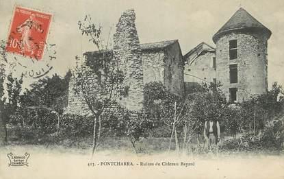 "/ CPA FRANCE 38 ""Pontcharra, ruines du château Bayard"""