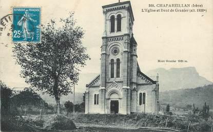 """/ CPA FRANCE 38 """"Chapareillan, l'église et dent de Granier"""""""