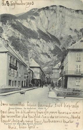 "/ CPA FRANCE 38 ""Bourg d'Oisans, la grand'rue"""