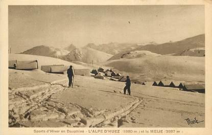 """/ CPA FRANCE 38 """"L'Alpe d'Huez et le Maije"""""""