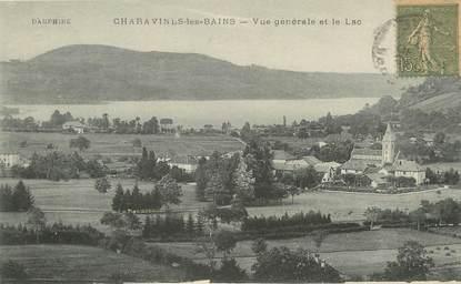 """/ CPA FRANCE 38 """"Charavines les Bains, vue générale et le lac """""""