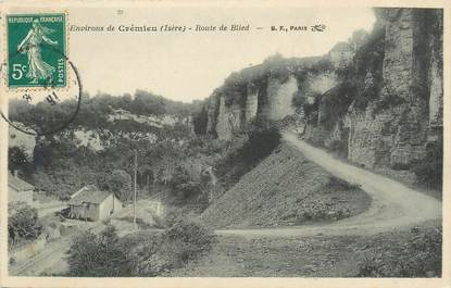 """/ CPA FRANCE 38 """"Environs de Crémieu, route de Blied"""""""