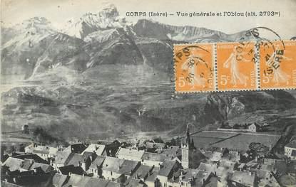 """/ CPA FRANCE 38 """"Corps vue générale et l'Obiou"""""""