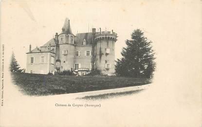 "/ CPA FRANCE 63 ""Château de Croptes"""
