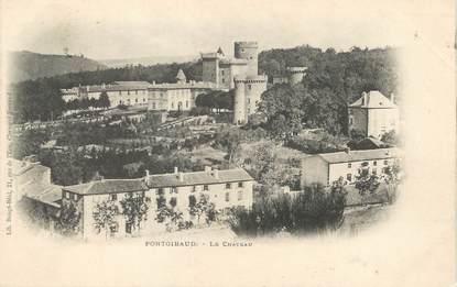 "/ CPA FRANCE 63 ""Pontgibaud, le château"""