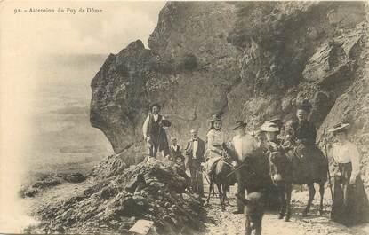 """/ CPA FRANCE 63 """"Ascension du Puy de Dôme"""" / ÂNE"""