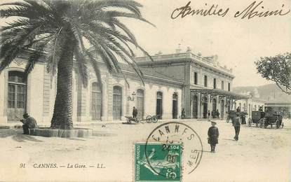 "/ CPA FRANCE 06 ""Cannes, la gare"""