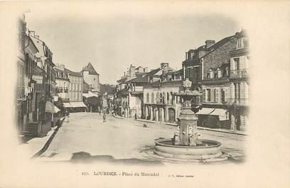 """/ CPA FRANCE 65 """"Lourdes, place du Marcadal"""""""
