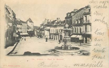"""/ CPA FRANCE 65 """"Lourdes, place de Marcadal"""""""