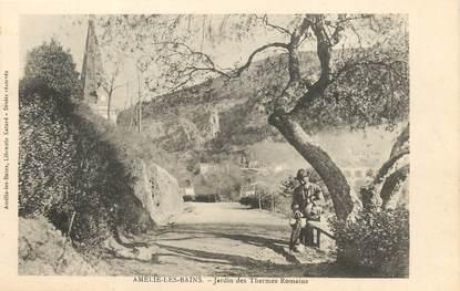 """/ CPA FRANCE 66 """"Amélie les Bains, jardin des Thermes Romains"""""""