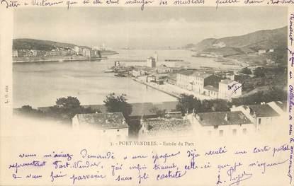"""/ CPA FRANCE 66 """"Port Vendres, entrée du port"""""""