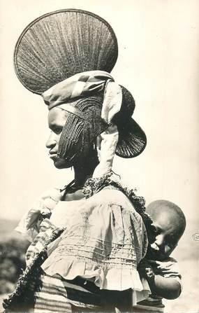 """CPSM AFRIQUE """"Jeune femme foula et son enfant """""""