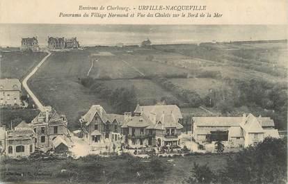 "/ CPA FRANCE 50 ""Urville Nacqueville, panorama du village Normand"""