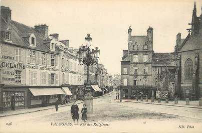 "/ CPA FRANCE 50 ""Valognes, rue des religieuses"""