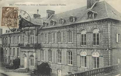 """/ CPA FRANCE 50 """"Valognes, hôtel de Beaumont"""""""