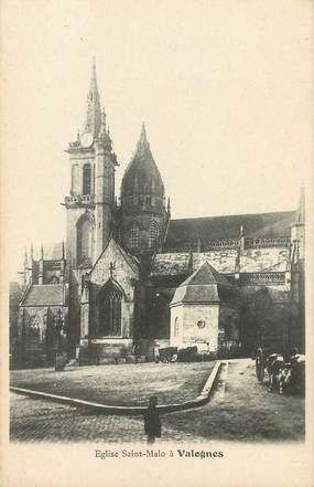 """/ CPA FRANCE 50 """"Eglise Saint Malo à Valognes"""""""