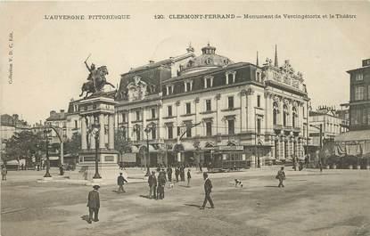 """/ CPA FRANCE 63 """"Clermont Ferrand, monument de Vercingétorix et le théâtre"""""""