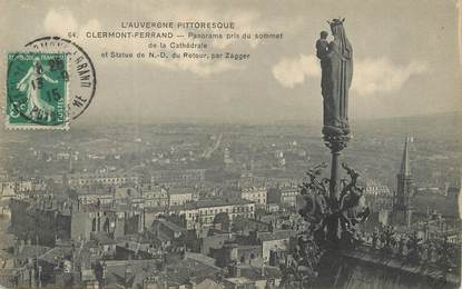 """/ CPA FRANCE 63 """"Clermont Ferrand, panorama pris du sommet de la Cathédrale"""""""