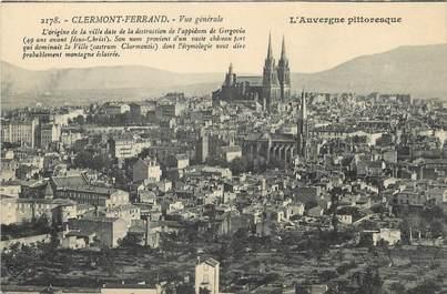 """/ CPA FRANCE 63 """"Clermont Ferrand, vue générale """""""