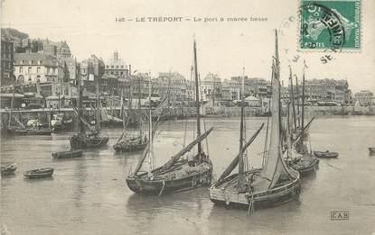 """/ CPA FRANCE 76 """"Le Tréport, le port à marée basse"""""""