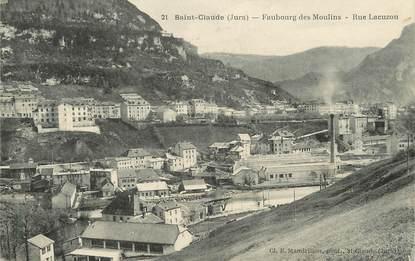 """/ CPA FRANCE 39 """"Saint Claude, faubourg des moulins, rue Lacuzon"""""""