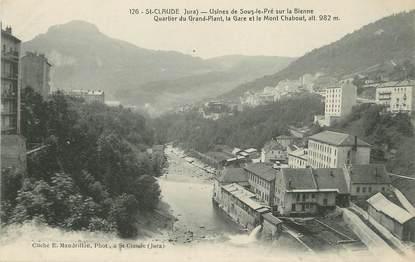 """/ CPA FRANCE 39 """"Saint Claude usines de sous le Pré"""""""
