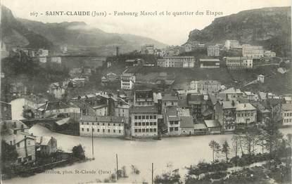 """/ CPA FRANCE 39 """"Saint Claude, faubourg Marcel et le quartier des Etapes"""""""