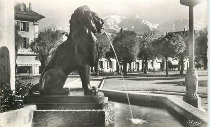 """CPSM  FRANCE 74 """"Sallanches, vue sur le Mont Blanc"""""""