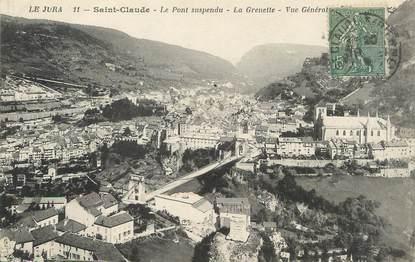 """/ CPA FRANCE 39 """"Saint Claude, le pont suspendu, la Grenette"""""""