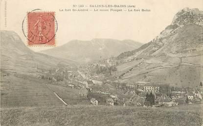 """/ CPA FRANCE 39 """"Salins les Bains, le fort André, le mont Poupet, le fort Belin"""""""