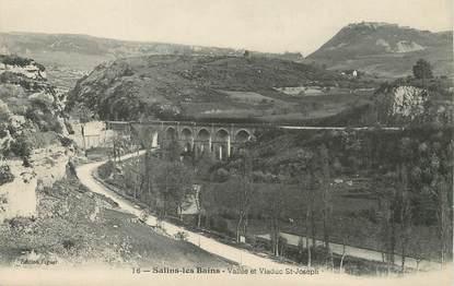 """/ CPA FRANCE 39 """"Salins les Bains, vallée et viaduc Saint Joseph"""""""