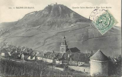"""/ CPA FRANCE 39 """"Salins les Bains, quartier Saint Maurice et Fort Saint André"""""""