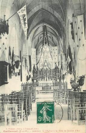 """/ CPA FRANCE 91 """"Guillerval, intérieur de l'église"""""""