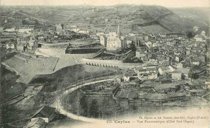 "CPA  FRANCE 82 ""Caylus, vue panoramique"""