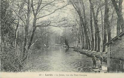 "/ CPA FRANCE 91 ""Lardy, la Juine, vue du pont Goujon"""