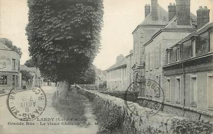 """/ CPA FRANCE 91 """"Lardy, grande rue, le vieux château"""""""