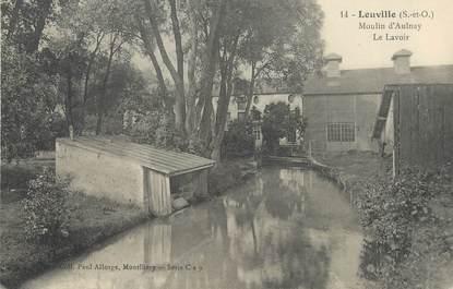 """/ CPA FRANCE 91 """"Leuville, moulin d'Aulnay, le lavoir"""""""