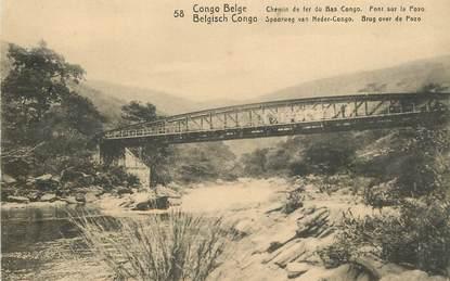 "CPA  CONGO BELGE ""chemin de fer du Bas Congo"""