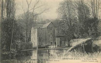 "/ CPA FRANCE 91 ""Gironville, le grand moulin"""