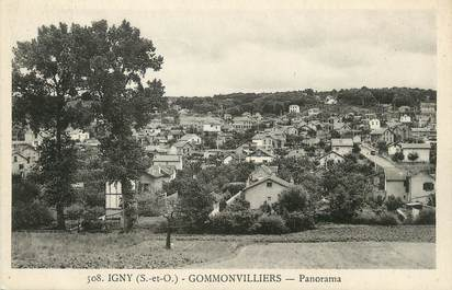"/ CPA FRANCE 91 ""Igny, Gommonvilliers, panorama"""